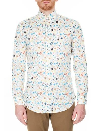 Etro  Slim Fit Gömlek Erkek Gömlek 1K964 4783 990 Beyaz